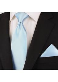 Solid light blue ties - Light blue men's necktie styled