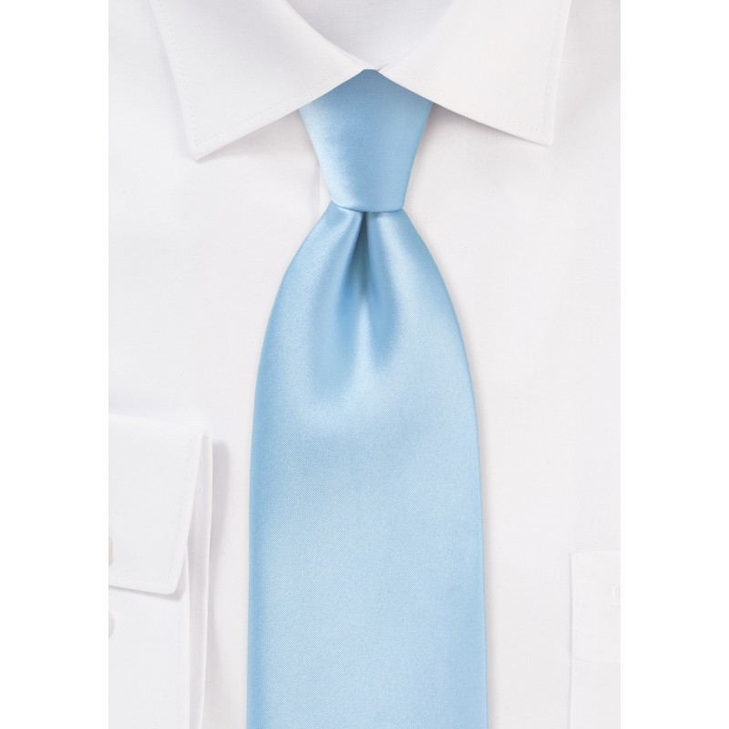 Extra long ties - Light blue XL necktie