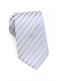 Subtle Striped Kids Tie in Silver