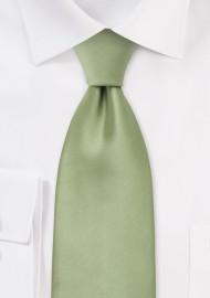 Solid Kids  Tie in Light Jade Green