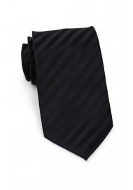 Extra long black tie - Stain resistant Microfiber necktie in solid black
