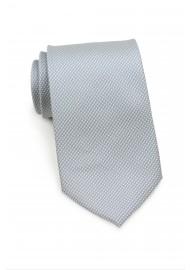 Silver Tie with Micro Diamond Checks