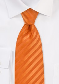 Extra Long Necktie in Bright Orange Color
