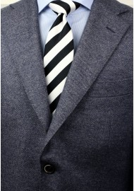 Classic Black and White Tie Styled