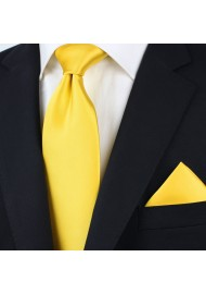 Solid Tie in Bright Sun Yellow Styled