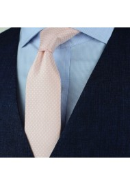 Blush Pink Pin Dot Tie Styled