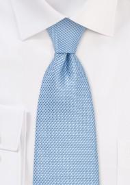 Grenadine Textured Kids Sized Tie in Sky Blue