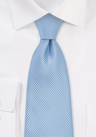 Grenadine Textured Kids Sized Tie in Sky Blue