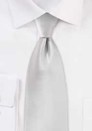 Light Platinum Silver Tie Made for Kids