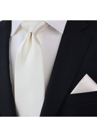 Formal Mens Tie in Solid Cream Styled