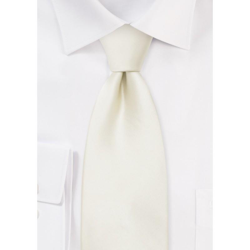 Formal Mens Tie in Solid Cream