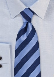 Elegant Navy Striped Necktie