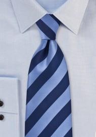 Elegant Navy Striped Necktie