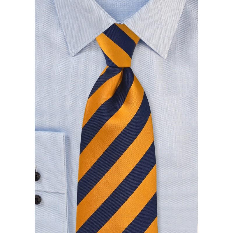 Regimental Orange and Navy Tie