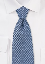 Trendy Blue Gingham Check Tie