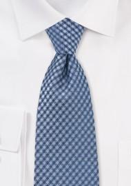 Trendy Blue Gingham Check Tie