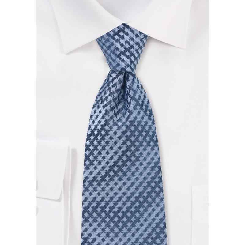 Blue Micro Check Kids Tie