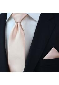 Solid Necktie in Antique Blush Styled