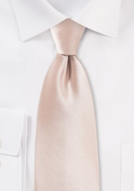 Solid Necktie in Antique Blush
