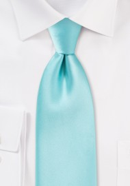 Light Turquoise Blue Necktie