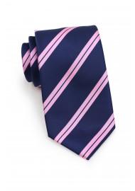 Summer Repp Tie in Pink and Navy