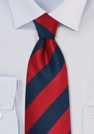 Navy and Red Necktie