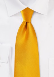 Kids Neck Tie in Golden Saffron