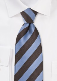 Dragonfly Blue and Brown Striped Tie