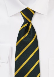 Onyx and Golden-Yellow Tie in Long Length