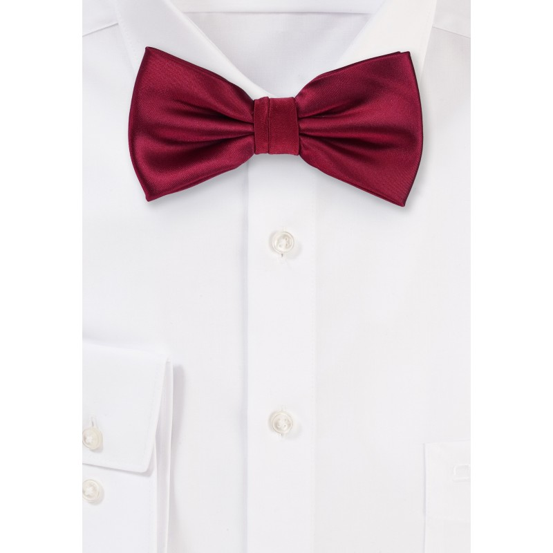 Pre-Tied Bow Tie in Burgundy Red