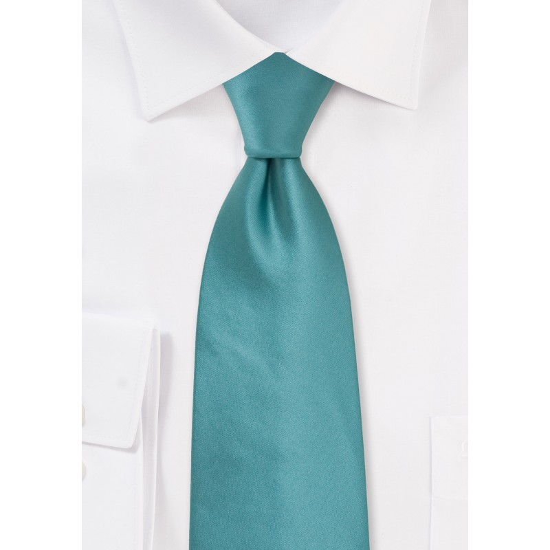 Solid Light Teal Green Tie for Kids
