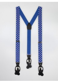 Blue and Pink Polka Dot Suspenders