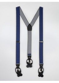 Navy Striped Suspenders