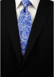 Horizon Blue Paisley Tie Styled