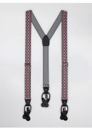 pink gray floral mens suspenders