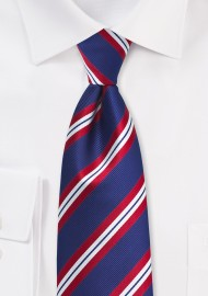 XL Stripe Tie in Red, White, Blue