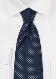 Sapphire Blue Kids Tie With White Dots