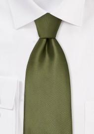 Solid Olive Green Necktie