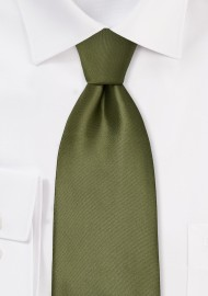Solid Olive Green Kids Tie