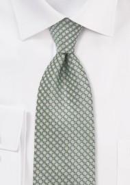 Diamond Patterned Kids Tie in Mint Green Color