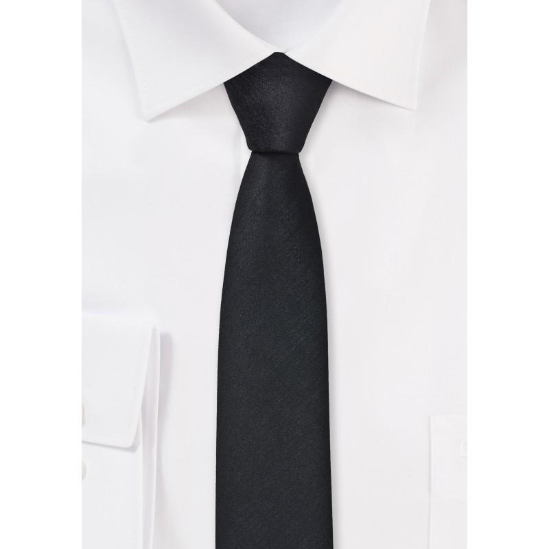 Ultra Skinny Tie in Black