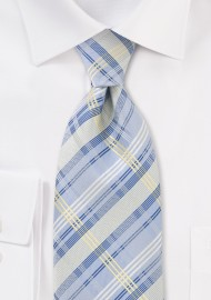 Summer Tie in Light Blue in XL Length