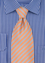 Pink-Orange Striped Necktie