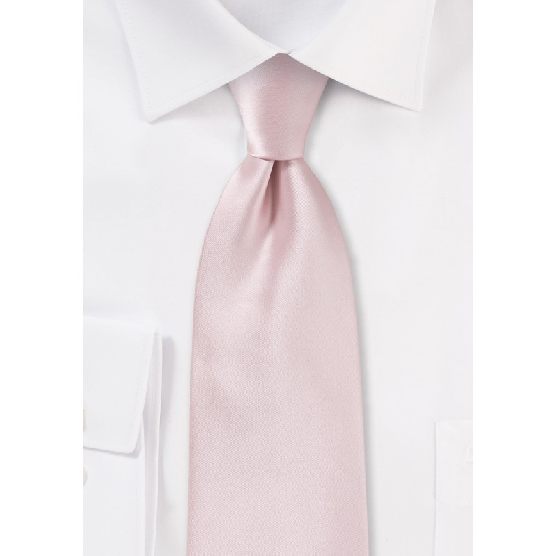 Kids Tie in Blush Pink