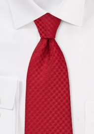 Gingham Kids Tie in Bright Red
