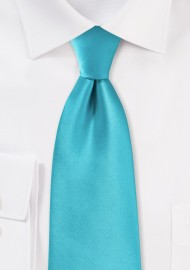 Bright Aqua Colored Necktie