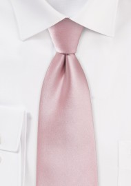 Soft Pink Color XL Length Tie