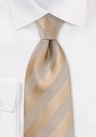 Golden Wheat Striped Kids Necktie