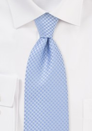 Traditionally Patterned Soft Blue Tie
