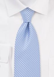Lightly Patterned Kids Tie in Soft Blue